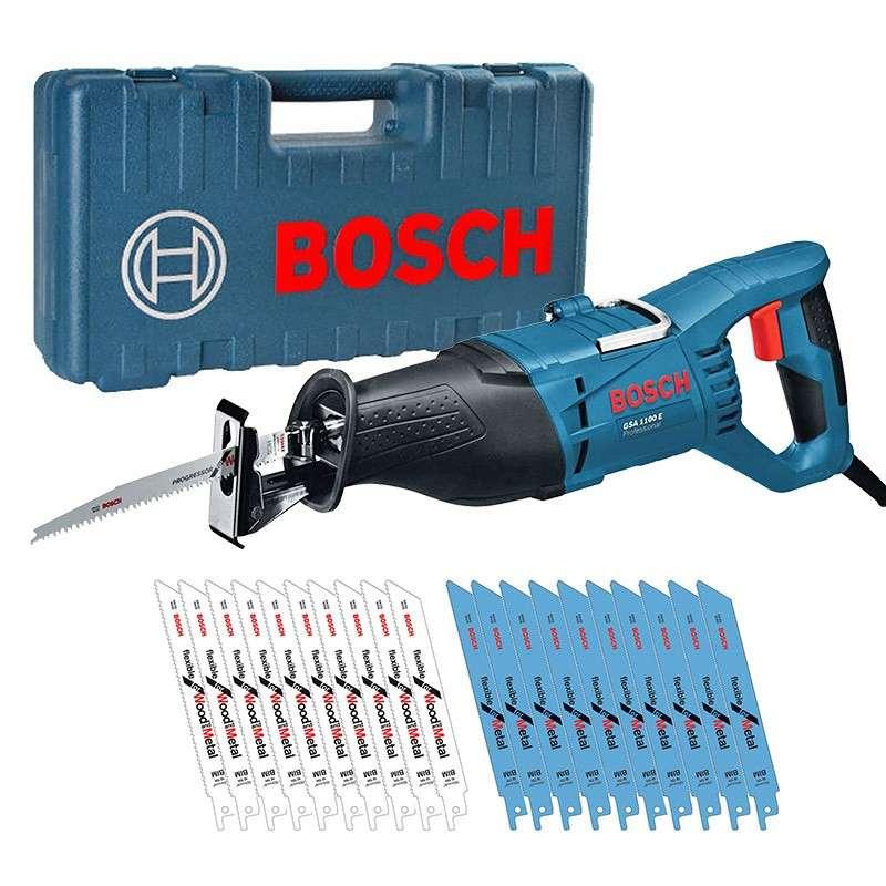 Scie sabre Bosch pro GSA 1100 E 1100W + 20 Lames