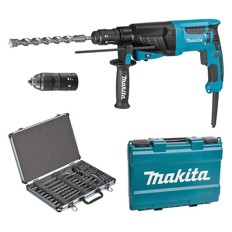marteau perforateur burineur makita hr2630tx12 pour sds. Black Bedroom Furniture Sets. Home Design Ideas