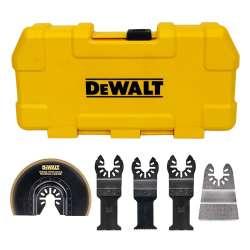 Coffret de 5 accessoires DEWALT DT20715 pour multi-cutter