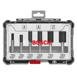 Coffret de 6 fraises droites Bosch Professional 2607017466 à queue de 8mm