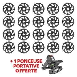 Lot de 10 Plateaux DIAM PNZ Ø125mm + 1 Ponceuse DIAM EBS1802 offerte