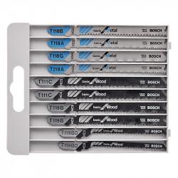 Pack de 10 Lames BOSCH PRO 2607010630 Basic for Metal and Wood pour scie sauteuse (BOIS et METAL)
