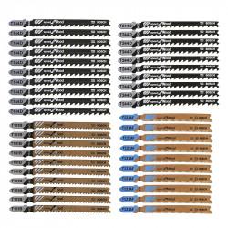 Coffret de 40 lames de scie sauteuse Bosch Professional 2607010904 Wood and Metal Tough Box