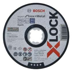 Disque à tronçonner BOSCH Professonal X-LOCK Expert for Inox and Metal Ø 125x1x22,23 mm