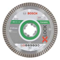 Disque à tronçonner diamanté BOSCH Professonal X-LOCK Best for Ceramic Extra Clean Turbo Ø 125x22,23x1,4x7
