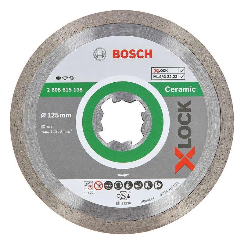 Disque à tronçonner diamanté BOSCH Professional X-LOCK Standard for Ceramic Ø 125x22,23x1,6x7,5