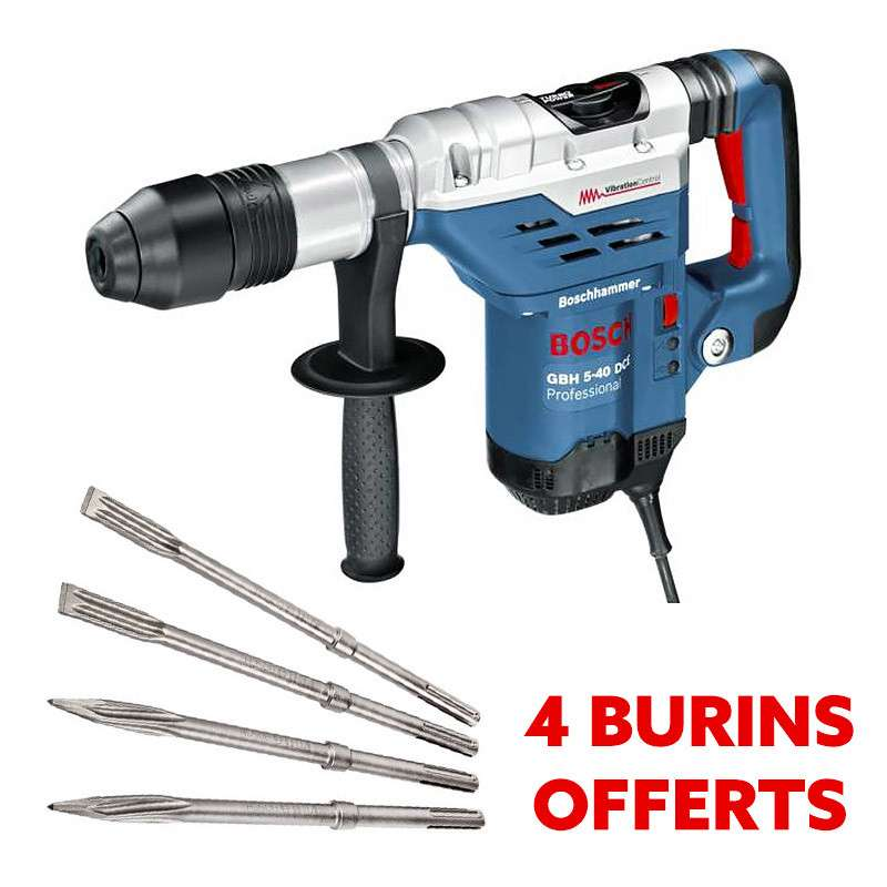 Perforateur / Burineur BOSCH GBH 5-40 DCE Professional SDS-max + 4 burins