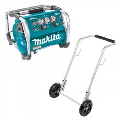 Compresseur MAKITA AC310H HP et BP 1800 W HP 26 / BP 9 bar + Chariot de transport HY00000212
