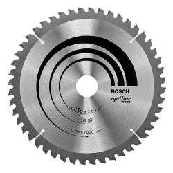 Lame BOSCH 2608640432 Optiline Wood Ø 216mm 48 dents pour scies à onglets et radiales