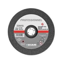 Disque abrasif DIAM DI230 Professionnel Ø 230 mm pour tôle et inox