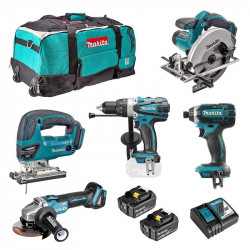 Pack 5 Outils MAKITA DLX500T 18 V 2 x 5,0 Ah