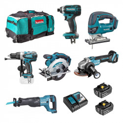 Pack 6 Outils MAKITA DLX600T 18 V 2 x 5,0 Ah