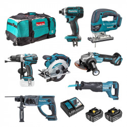 Pack 7 Outils MAKITA DLX700T 18 V 2 x 5,0 Ah