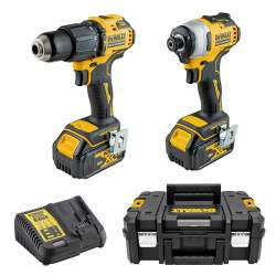 Pack Perceuse / Visseuse à chocs DEWALT DCK2062M2T (DCD709 + DCF809) 18V XR Brushless (2x4,0Ah)