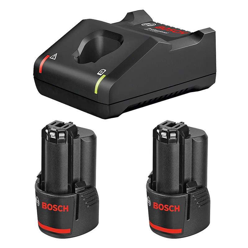 Chargeur BOSCH GAL 12V-40 Professional + 2 Batteries BOSCH GBA 12V 3.0Ah Professional