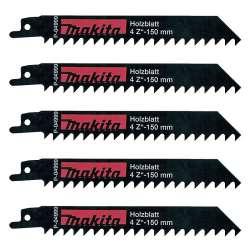 Lot de 5 lames de scie sabre MAKITA P-04999 pour bois
