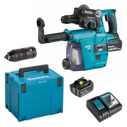 Perfo-burineur MAKITA DHR243RTJW SDS-Plus 18V Li-Ion (2x5Ah) 24 mm