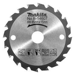 Lame carbure MAKITA B-14607 BOIS pour scie circulaire à batterie HS300D et HS301D