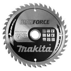 Lame carbure MAKITA B-08420 ''MakForce''' Bois pour scies circulaires Ø 160 mm