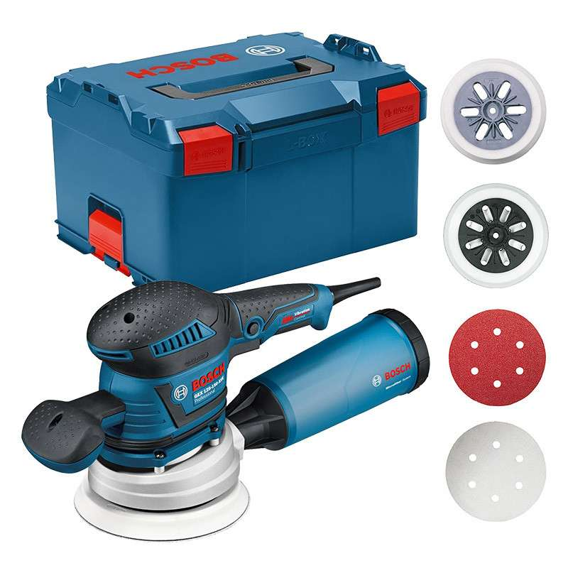 Ponceuse excentrique BOSCH GEX 125-150 AVE Professional 400W en L-BOXX