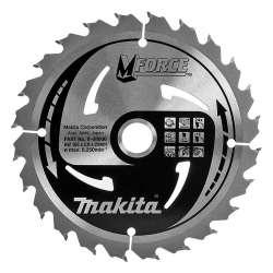 Lame carbure MAKITA B-08006 ''MForce'' Bois pour scies circulaires Ø 165 mm