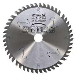Lame carbure MAKITA B-10344 forme TCG spécialisée CORIAN pour scies plongeantes Ø 165 mm
