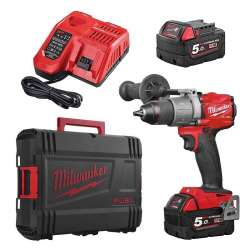 Perceuse - Visseuse à percussion MILWAUKEE M18 FPD2-502X M18 FUEL™ (2x5Ah) 135Nm