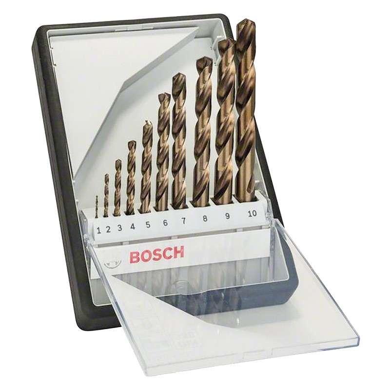 Coffret de 10 forets à métaux HSS-G BOSCH 2607010535 Robust Line