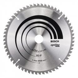 Lame BOSCH 2608640436 Optiline Wood Ø 254 mm 60 dents pour scie à onglet et radiale