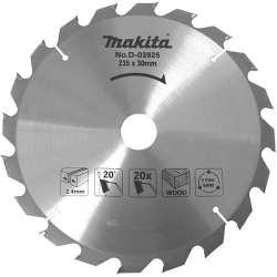 Lame carbure MAKITA D-03925 standard bois pour scies circulaires