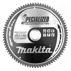 Lame carbure MAKITA B-09606 ''Specialized'' Aluminium pour scies circulaires
