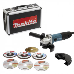 Meuleuse MAKITA GA5030RSP6 720W Ø 125mm (coffret alu)