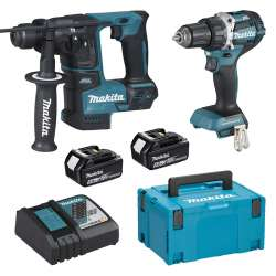 Pack 2 machines MAKITA DLX2271TJ (DDF484 + DHR171) 18V Li-Ion (2 x 5Ah)