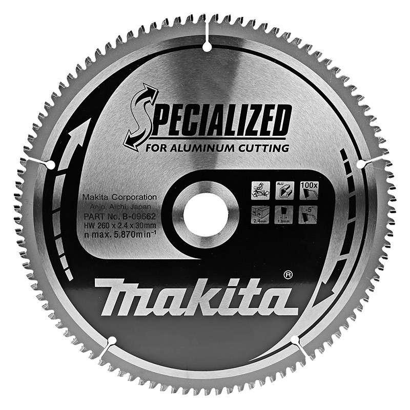 LAME DE SCIE Special Aluminium MAKITA B-09662 Ø 260MM X 30MM 100 DENTS