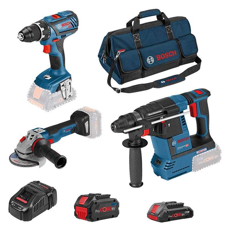 Pack 3 outils BOSCH Professional 0615990L51 (GSR 18V-28 + GWS 18V-10 C + GBH 18V-26)