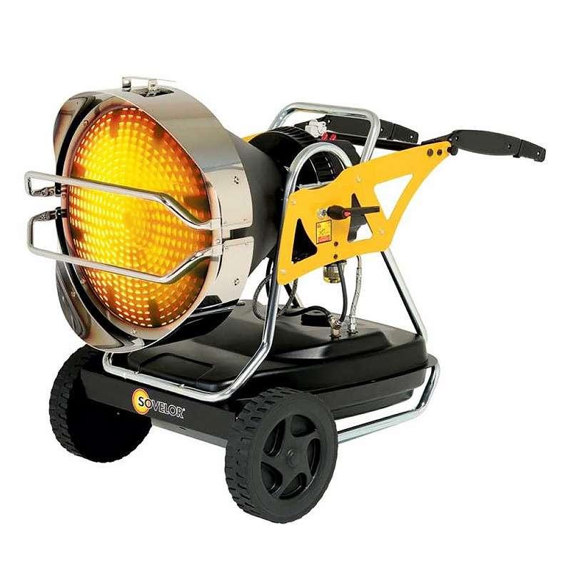 Chauffage radiant mobile à combustion directe SOVELOR STAR S 190W 230V/50Hz