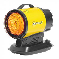 Chauffage radiant portable à combustion directe SOVELOR MINISUN 17Kw 200W 230V/50Hz