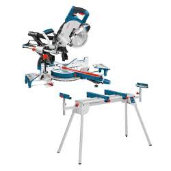 Scie à onglets radiale BOSCH GCM 8 SJL Professional 1600W + Table de travail BOSCH GTA 2600 Professional
