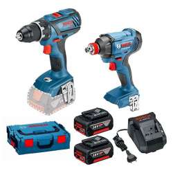 Pack Perceuse/Visseuse à chocs Bosch 0615990K3L Professional (GSR 18V-28 + GDX 18V-180) 18V (2x4,0Ah) + L-Boxx