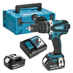 Perceuse/Visseuse à Percussion Makita Dhp458rtj 18V Li-ion 2 x 5.0Ah