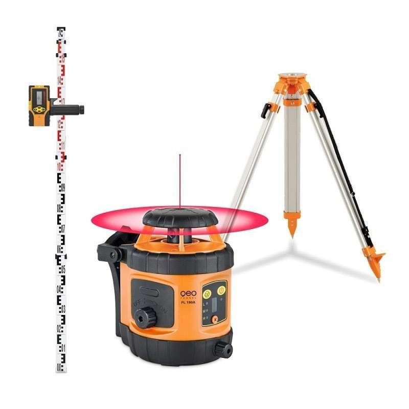Pack Niveau laser rotatif automatique GEO FENNEL FL 190A + Trépied + Mire