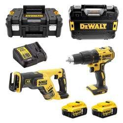 Pack 2 outils DEWALT DCK2068P2T (DCD778+DCS367) XR 18V (2x5,0Ah)