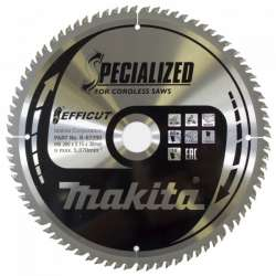 Lame de scie circulaire MAKITA B-67290 SPECIALIZED EFFICUT accu Ø260mm