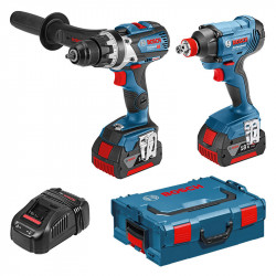 Pack 2 outils BOSCH Professional 0615990L4H (GSR 18V-85C + GDX 18V-180) 18V (2x5,0Ah)