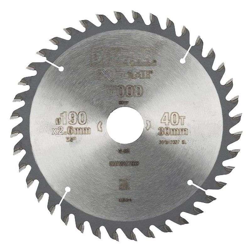 Lame DEWALT Extreme DT4064 Bois coupe fine Ø 190mm 40 dents pour scies circulaires