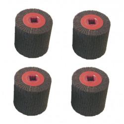 Lot de 4 rouleaux mixte DIAM INDUSTRIES CB-37531 Grain 60