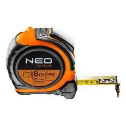 Mètre à Ruban Nylon NEO TOOLS 67-198 8m x 25 mm (Impression Recto-Verso et Click Stop)