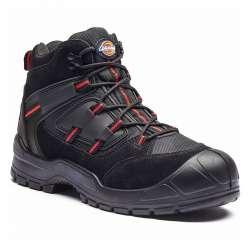 Chaussures de sécurité montante DICKIES EVERYDAY - S1P SRC - noir/rouge