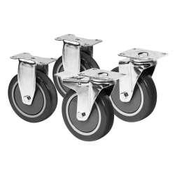 Lot de 4 roues NEO TOOLS 84-087 pour servante (SYSTÈME CUSTOM PRO)
