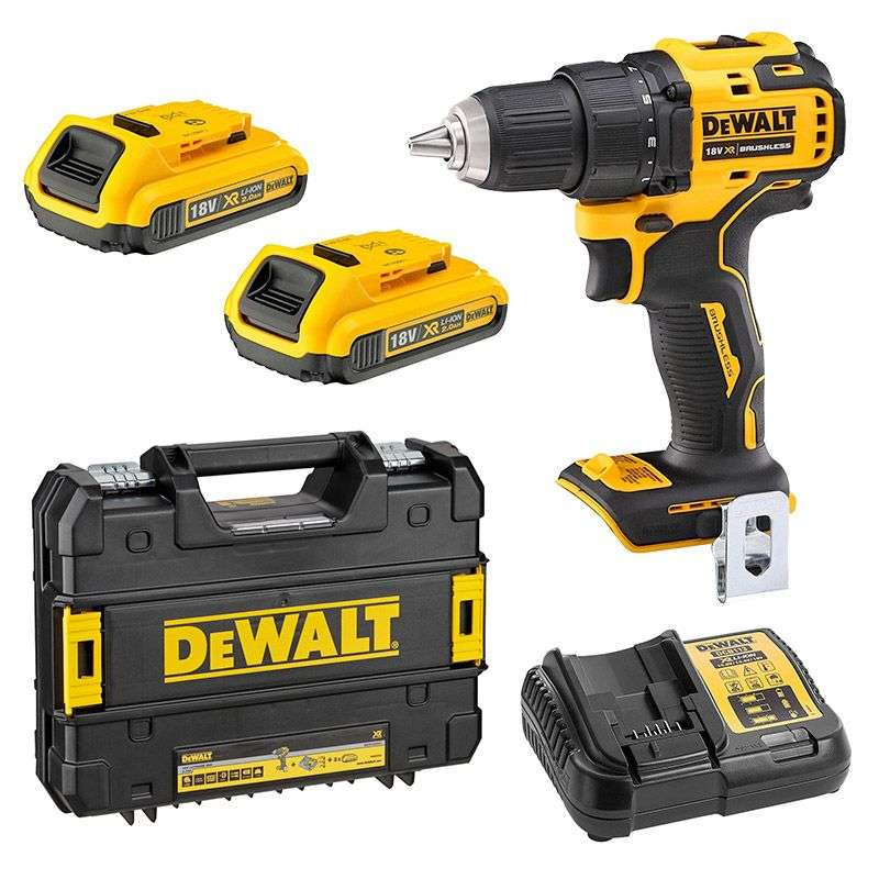 Perceuse visseuse DEWALT DCD708D2T 18V XR Compact Drill Driver Li-Ion (2x2Ah)
